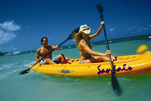 kayaking in Sandals Grande Ocho Rios