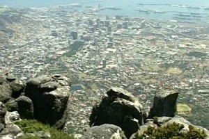 Int #102-South Africa-aerial Cape Town