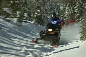 Railways-Quebec-Gaspe snowmobiling