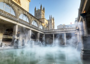 The Roman Baths in Bath, England